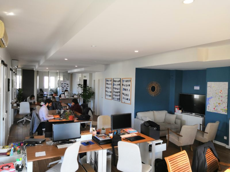 L'espace de travail collaboratif de l'espace de co working Le Repaire à Marseille