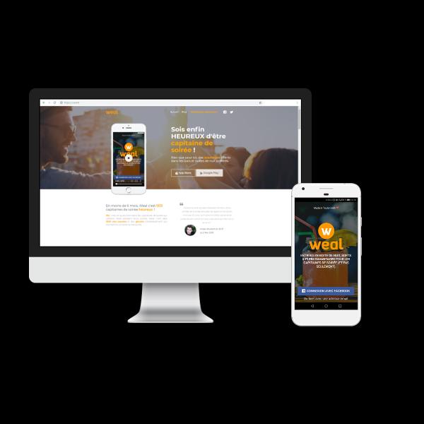 Conseil et développement d'un site web et d'une application mobile par Reactic